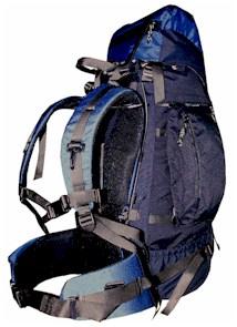 luxusní dvoukomorový batoh pro vysokohorskou i běžnou turistiku ~ objem 55  litrů ~ hmotnost 2 41b43d4abf